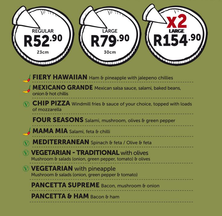 Traditional - Pizza Menu